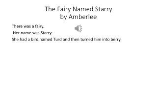The Fairy Named Starry  by Amberlee