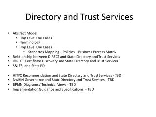 Directory and Trust Services
