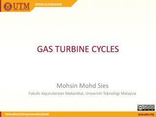 GAS TURBINE CYCLES