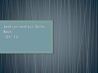 Jackson and Lee Strike Back   (Ch. 15)