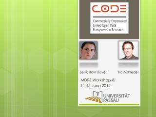 MDPS  Workshop-8, 11-15 June 2012