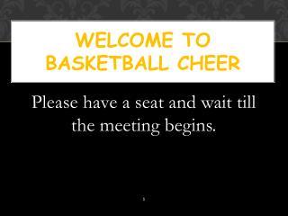 Welcome to basketball cheer