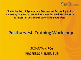 Postharvest  Training Workshop