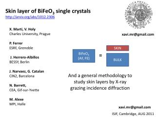 Skin layer of BiFeO 3  single crystals http://arxiv.org/abs/1012.2306