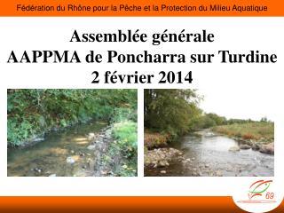 Assemblée générale AAPPMA de  Poncharra  sur  Turdine 2 février 2014