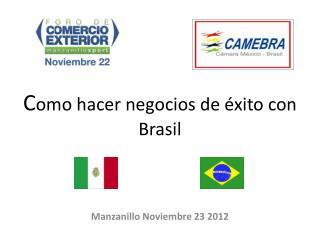 C omo hacer negocios de éxito con Brasil