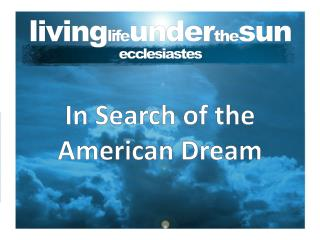 living life under the sun ecclesiastes