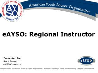 eAYSO: Regional Instructor