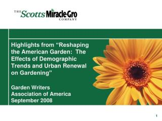 Reshaping the American Garden Overview Powerpoint