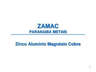 ZAMAC PARANAIBA METAIS