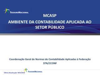 MCASP AMBIENTE DA CONTABILIDADE APLICADA AO SETOR PÚBLICO