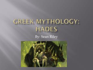 Greek Mythology: Hades