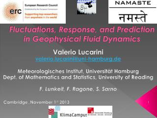 Fluctuations, Response, and Prediction in Geophysical Fluid Dynamics