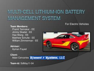 Multi-Cell Lithium-Ion Battery Management System