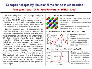 100%  spin polarized  Heusler  compounds highly promising for spin-electronics