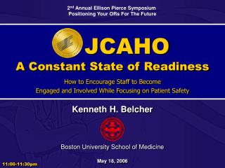 JCAHO A Constant State of Readiness