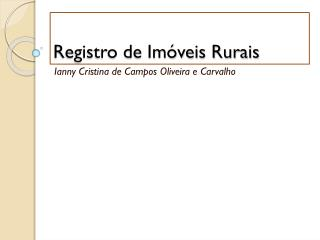 Registro de Imóveis Rurais