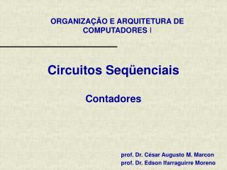 Circuitos Seqüenciais Contadores