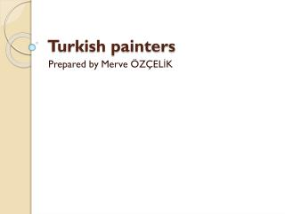 Turkish painters