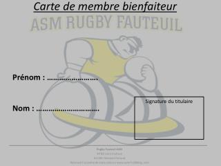 Carte de membre bienfaiteur