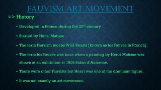 fauvism art movement