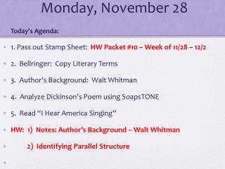 Monday, November 28