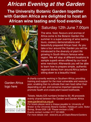 More information on the African evening