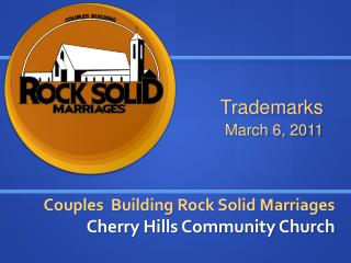 Couples  Building Rock Solid Marriages Cherry Hills Community Church