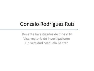 Gonzalo Rodríguez Ruiz