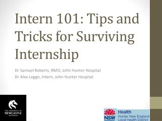Intern 101: Tips and Tricks for Surviving Internship