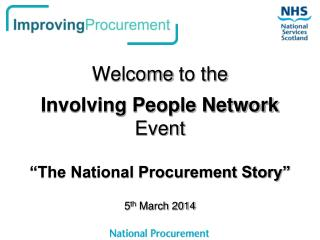 Welcome  to the Involving People Network Event