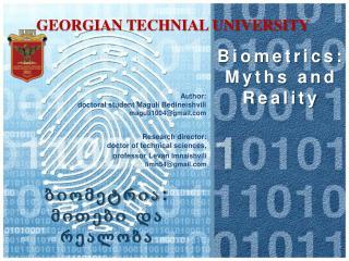 Biometrics: Myths and Reality