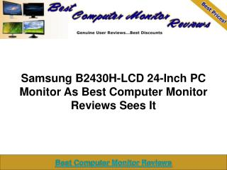 Samsung B2430H-LCD 24-In PC Monitor | Best Computer Monitor