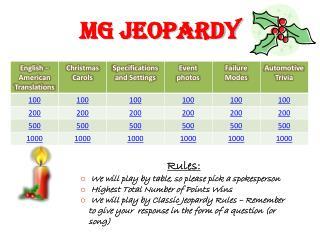 MG Jeopardy