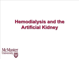 Hemodialysis and the Artificial Kidney