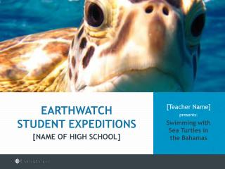 [Teacher Name]  presents: Swimming with  Sea Turtles in  the Bahamas
