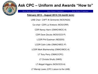 "Ask CPC – Uniform and Awards ""How to"""