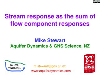 Stream response as the sum of flow component responses