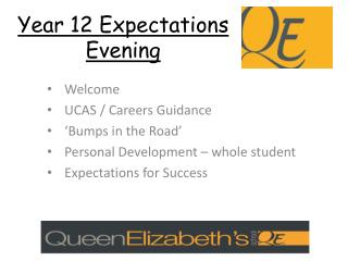 Year 12 Expectations Evening
