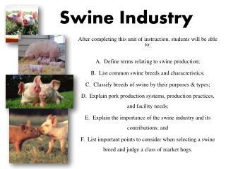 Swine Industry
