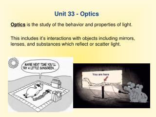 Unit 33 - Optics