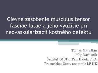 Tomáš Maruškin Filip Varhaník Školiteľ: MUDr.  Petr Hájek , PhD.