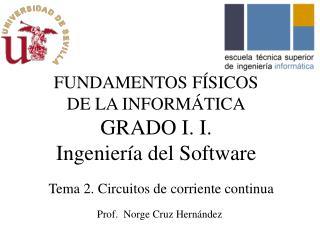 FUNDAMENTOS FÍSICOS DE LA INFORMÁTICA GRADO I. I.  Ingeniería  del Software