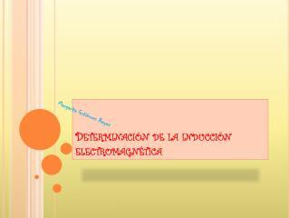 Determinación de la inducción electromagnética