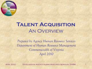 Talent Acquisition An Overview