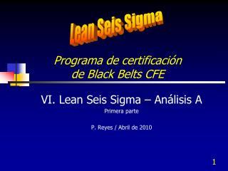 Programa de certificación  de Black  Belts CFE