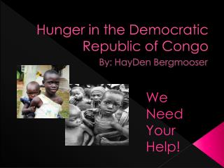 Hunger in the Democratic Republic of Congo
