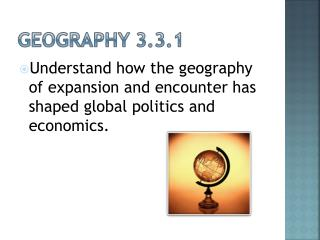 Geography 3.3.1
