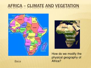 Africa – Climate and Vegetation