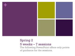 Spring 2 5 weeks – 7 sessions